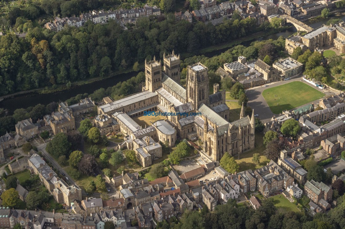 """""""Durham Cathedral aerial photo 200919 115"""" stock image"""