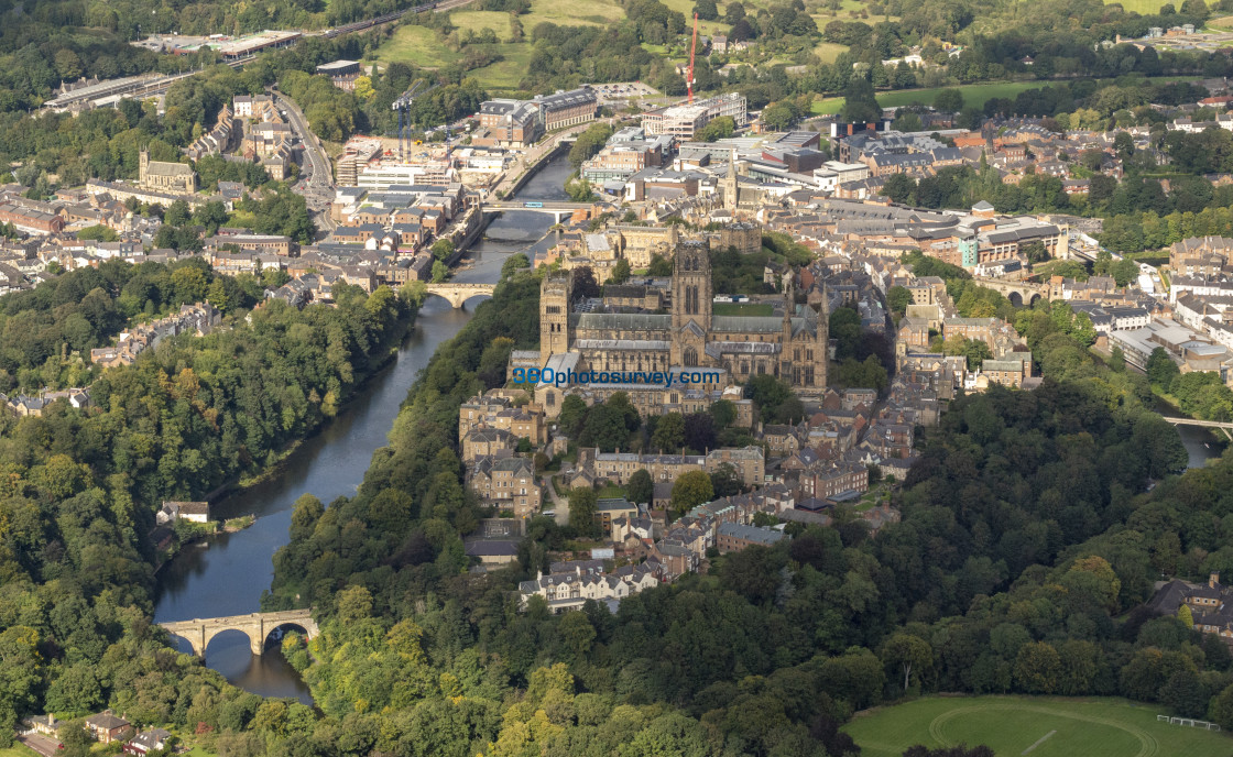 """Durham Cathedral aerial photo 200919 115"" stock image"