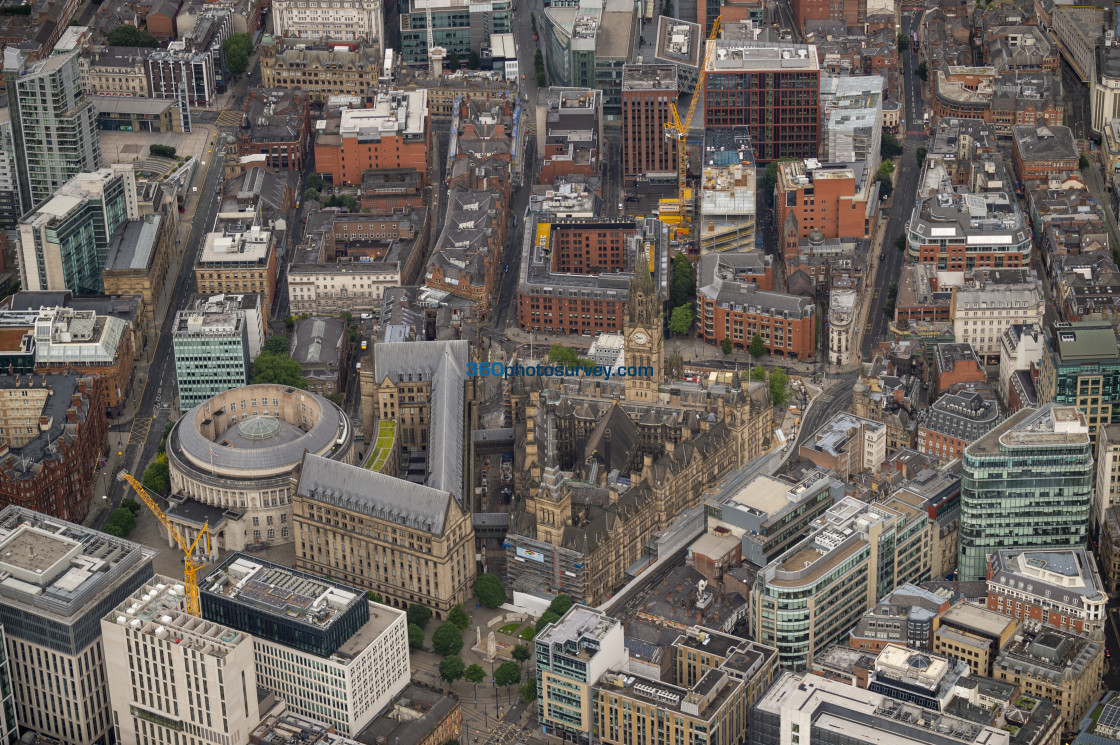 """""""Manchester Town Hall aerial photo 200726 9"""" stock image"""
