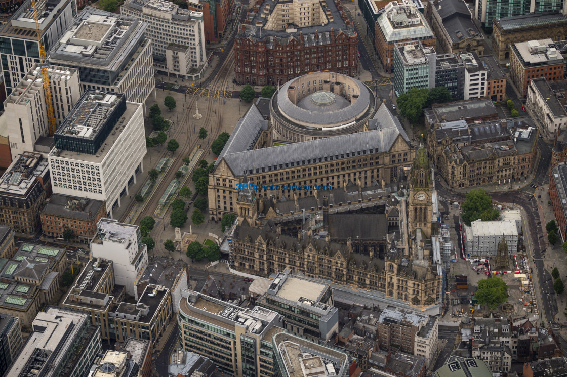 """Manchester Town Hall aerial photo 200726 9"" stock image"