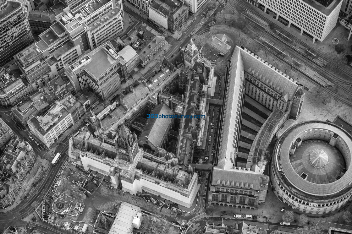 """""""Manchester Town Hall aerial photo 201105 6"""" stock image"""