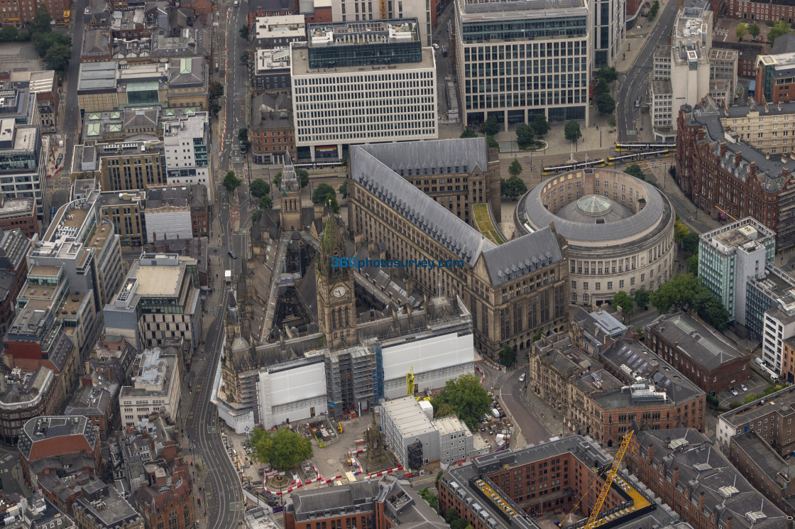 """Manchester Town Hall aerial photo 200919 46"" stock image"