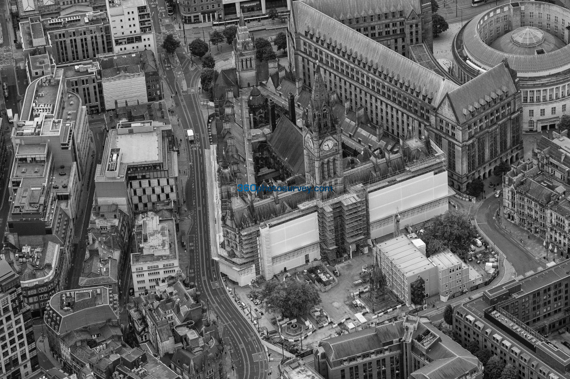 """""""Manchester Town Hall aerial photo 200919 46"""" stock image"""
