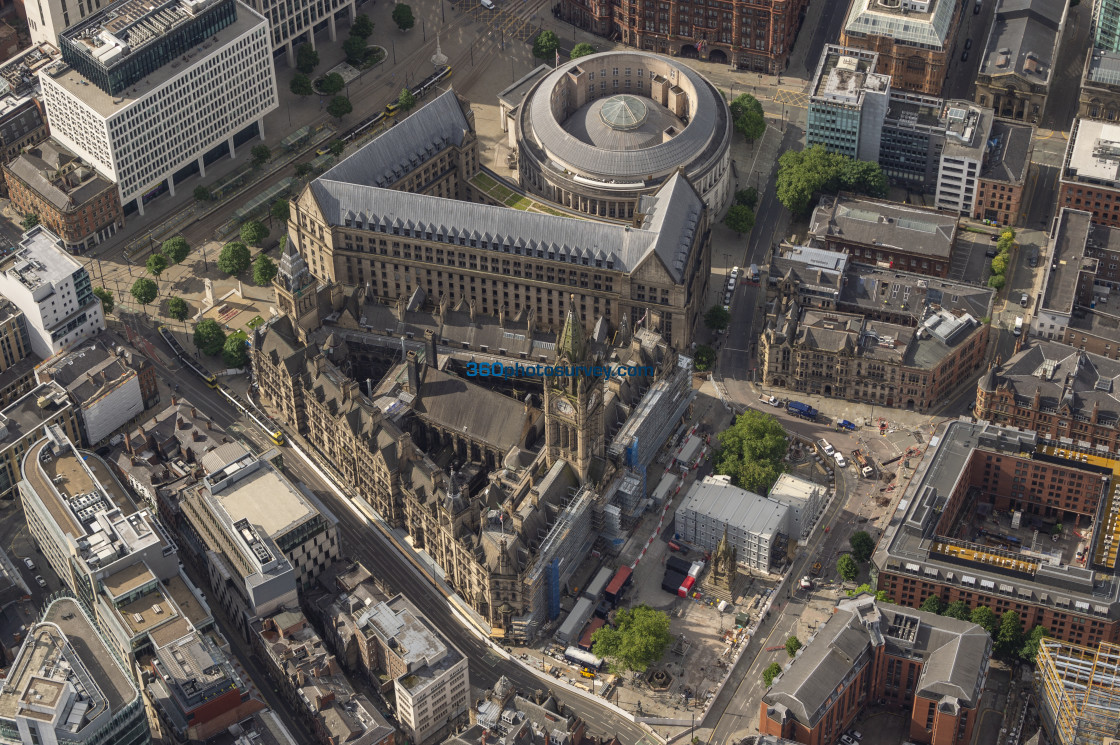 """Manchester Town Hall aerial photo 200622 6"" stock image"