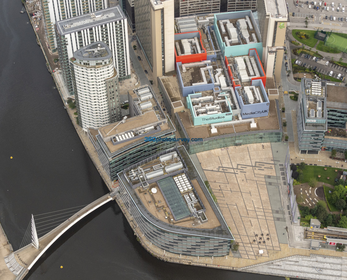 """Media City aerial photo 190829 6"" stock image"