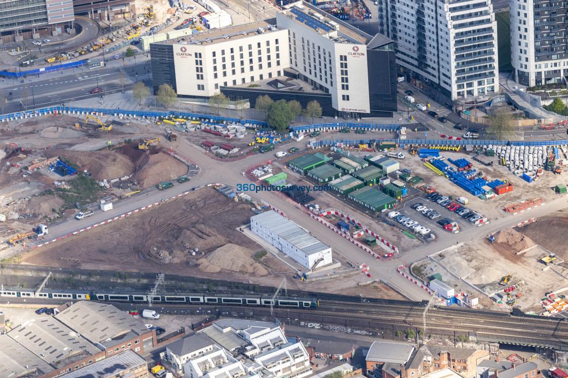 """""""Aerial photo Birmingham 210507 14"""" stock image"""