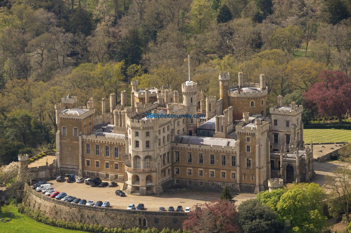 """""""Belvoir Castle aerial photo 210507 42"""" stock image"""