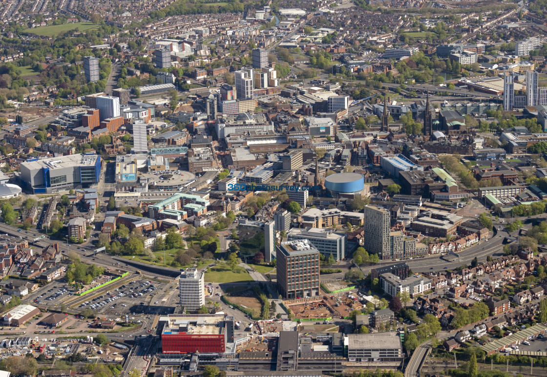 """""""Coventry City Centre aerial photo 210507 26"""" stock image"""