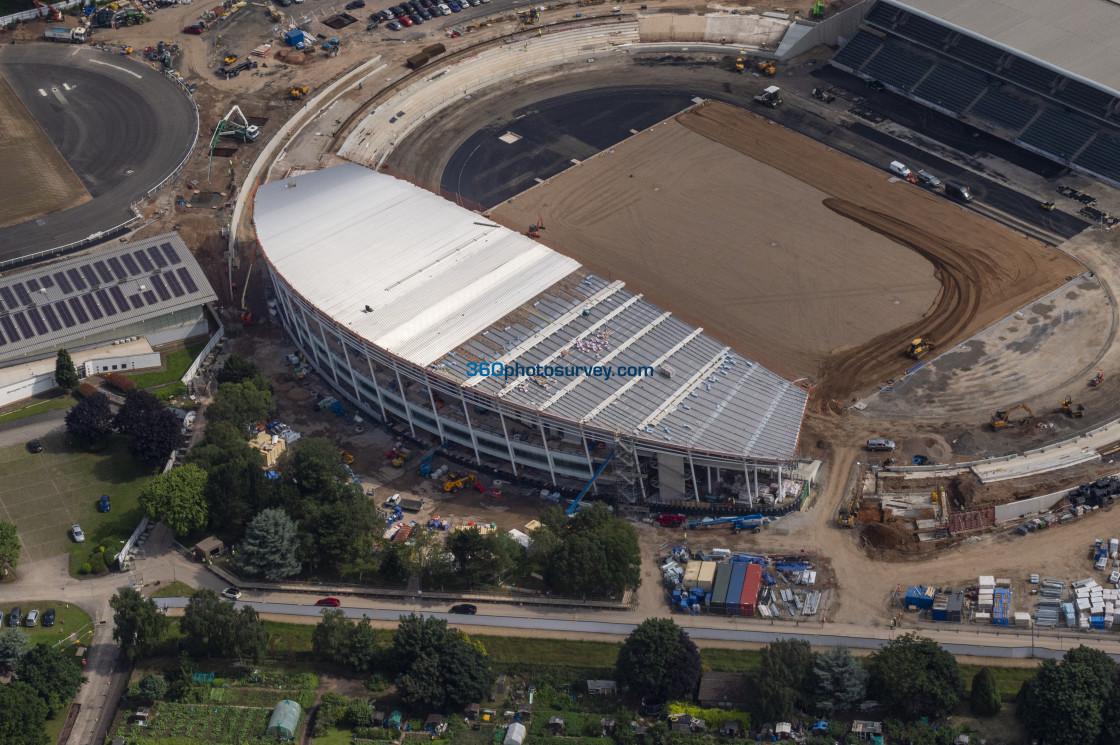 """""""Birmingham aerial photo Alexander Stadium 210709 21"""" stock image"""