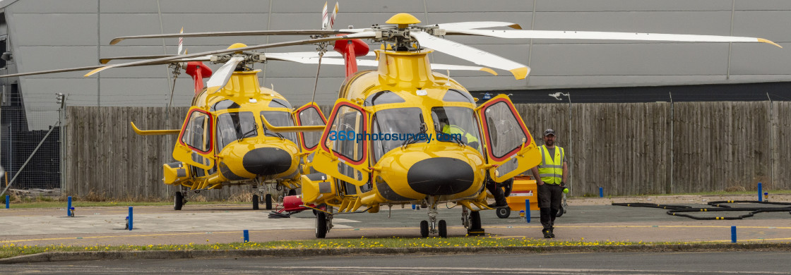 """""""Yellow Helicopters 210709 66"""" stock image"""