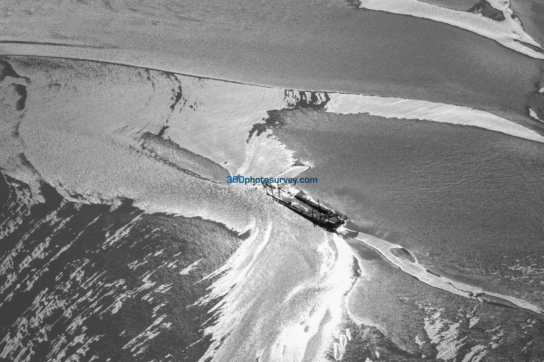 """The Wash wrecks aerial photos 210908 63"" stock image"
