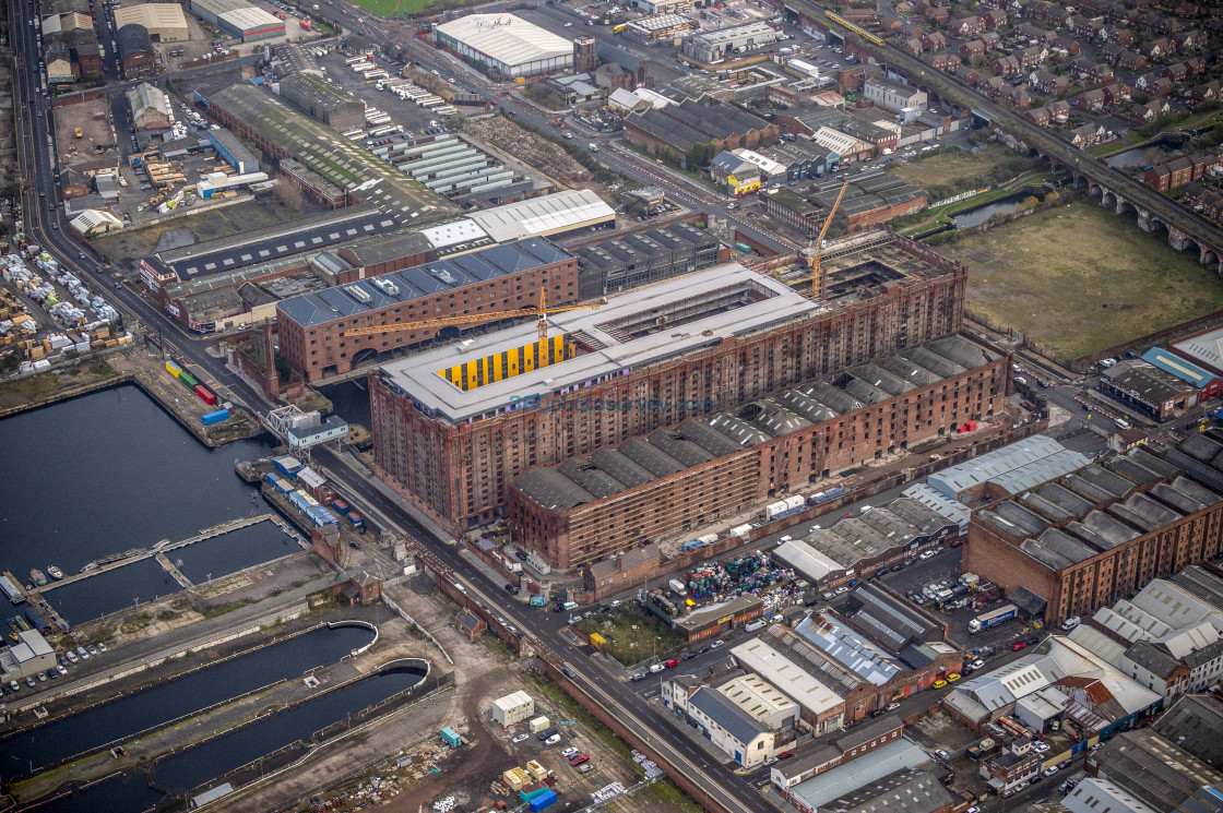 """Liverpool aerial photo"" stock image"