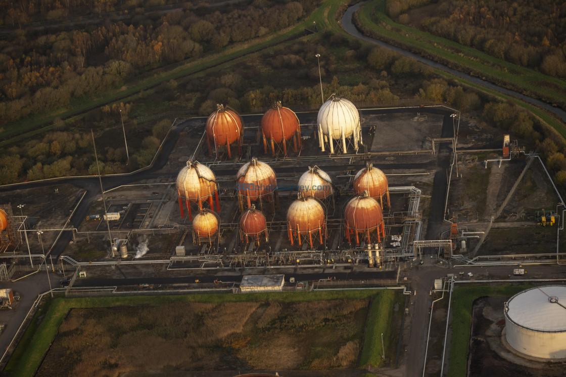 """Ellesmere Port aerial photo"" stock image"