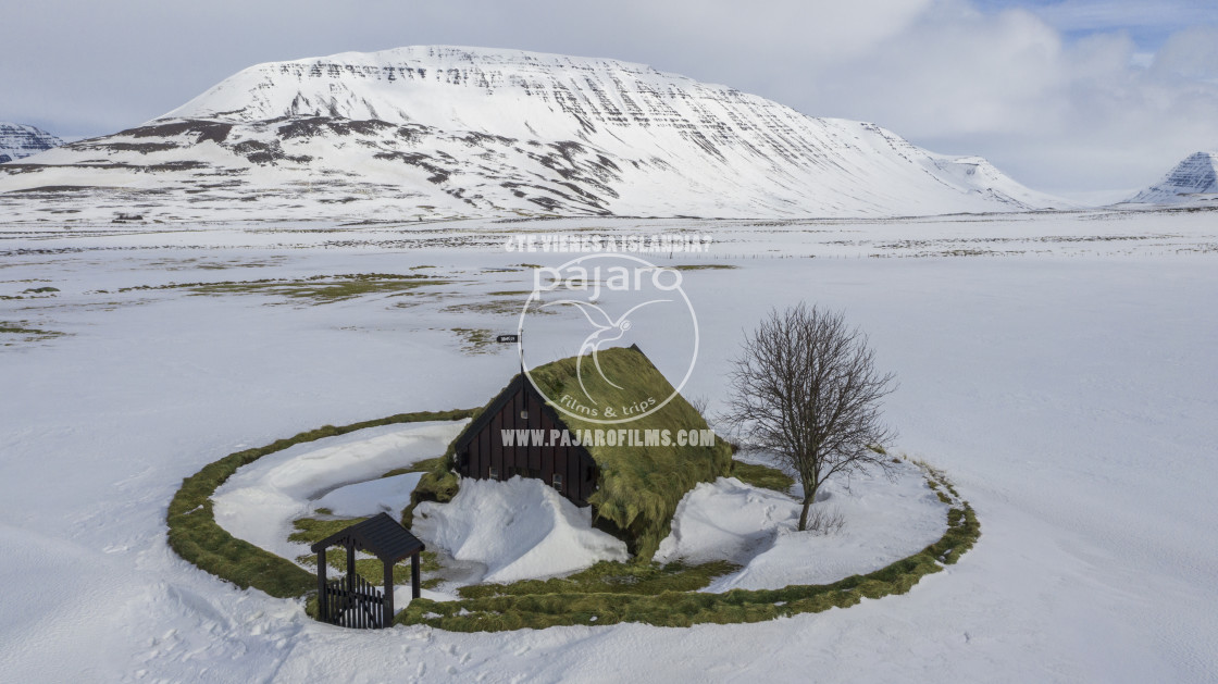 """Turf Chuch in Iceland"" stock image"