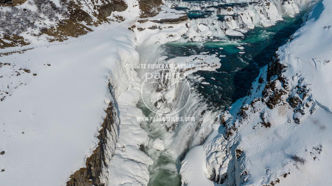 """GULLFOSS WATERFALL ICELAND."" stock image"