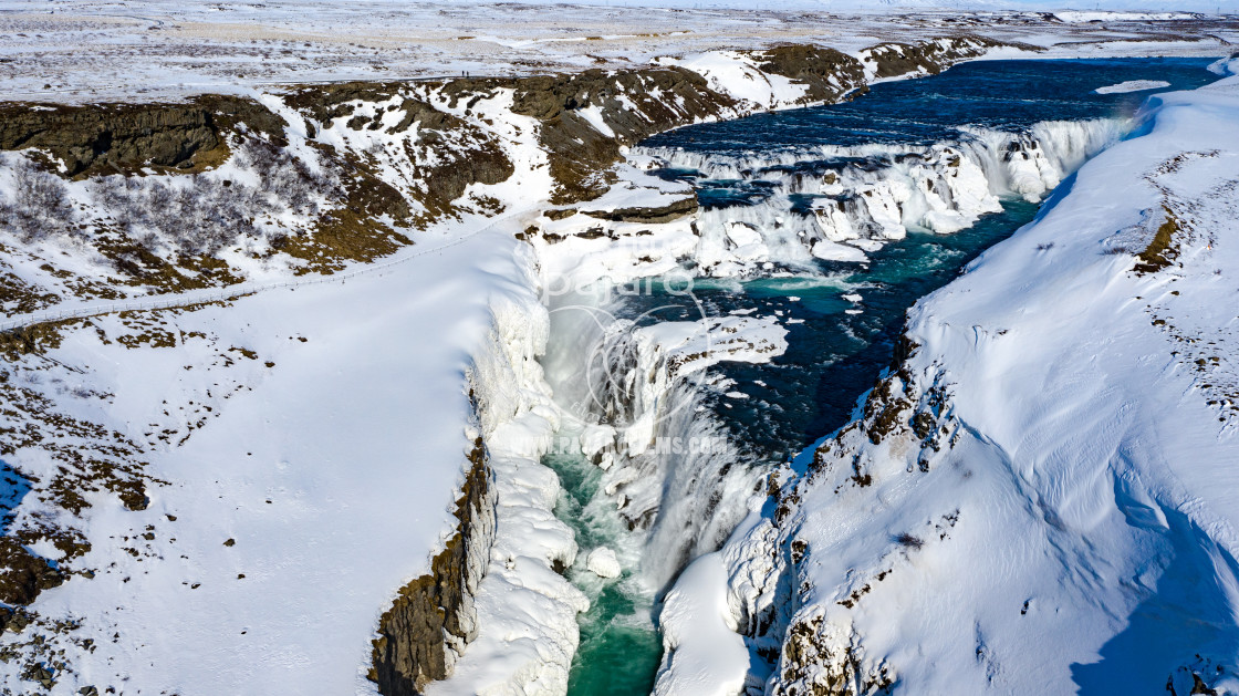 """GULLFOSS WATERFALL ICELAND."" stock image"