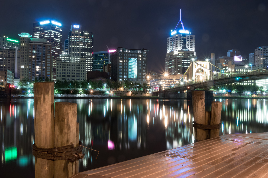 """Pittsburg Cityscape"" stock image"
