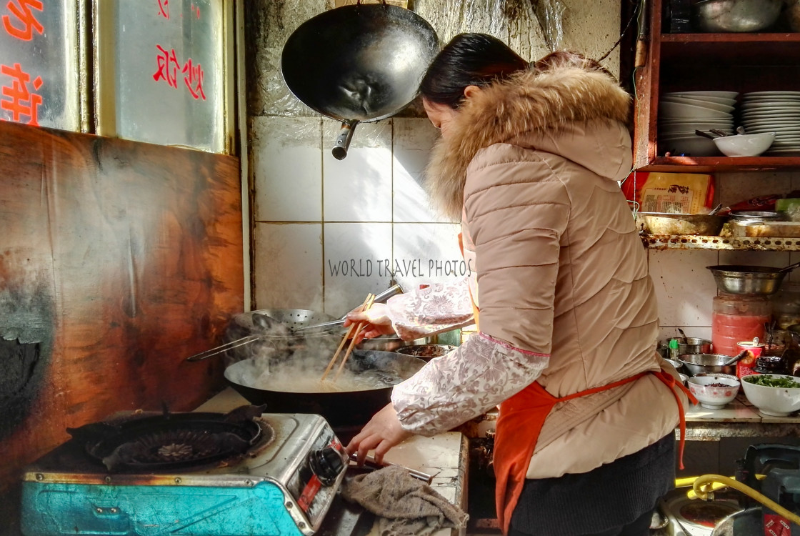 """""""Woman Cooking"""" stock image"""