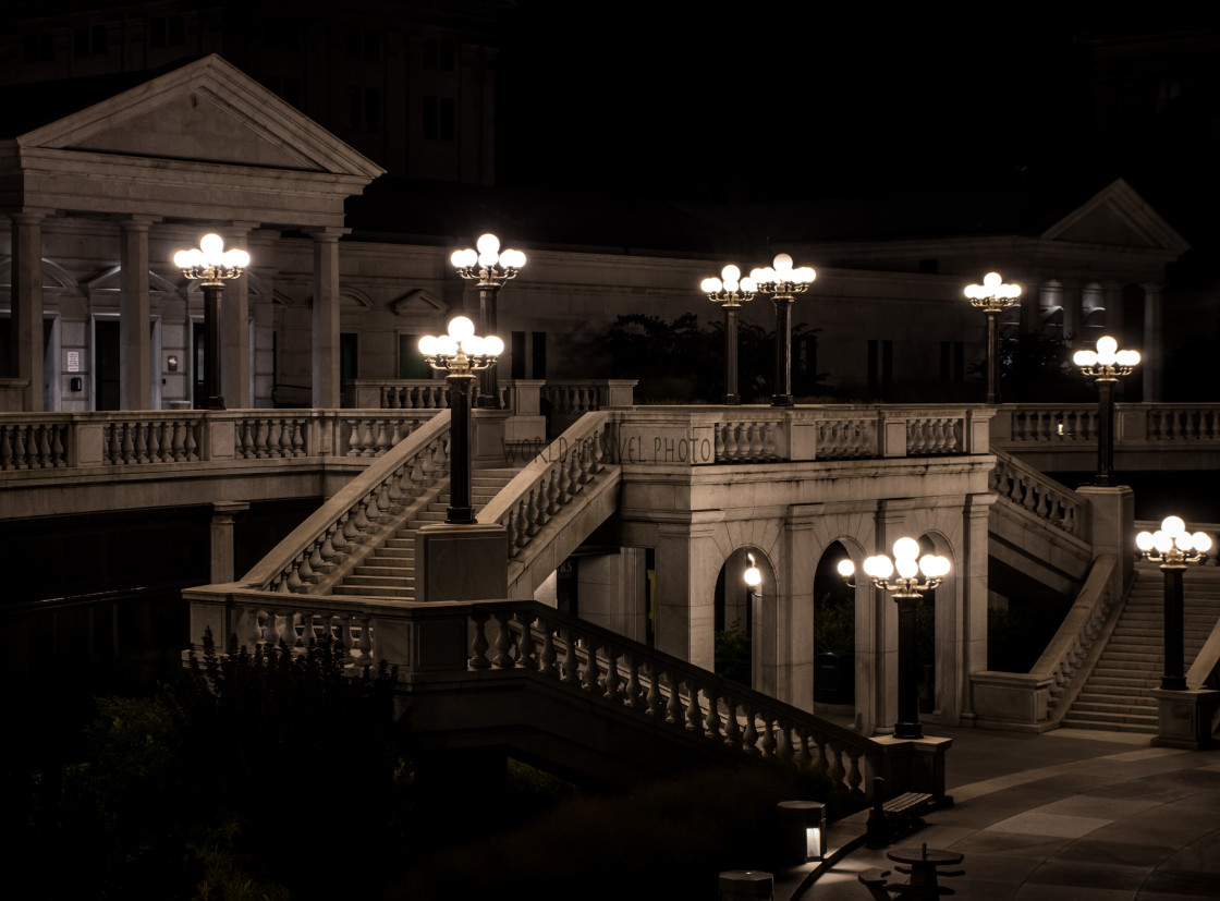 """""""City Architecture at Night"""" stock image"""