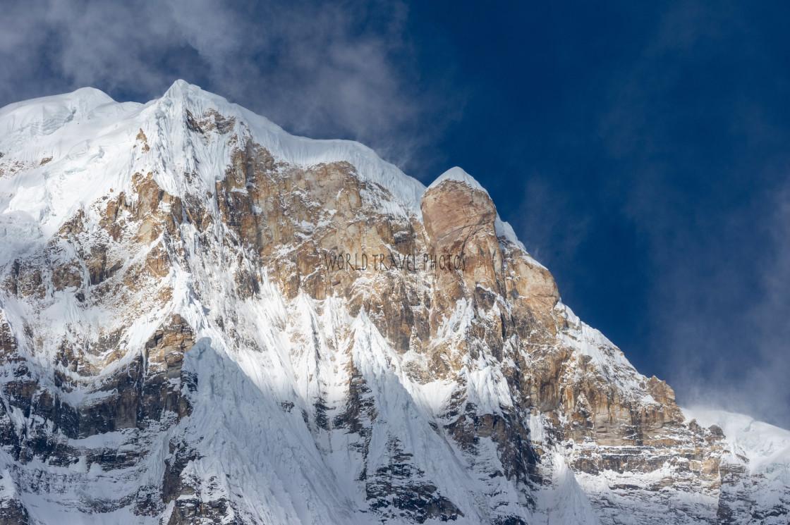"""Snow Peaks of the Himalayas"" stock image"