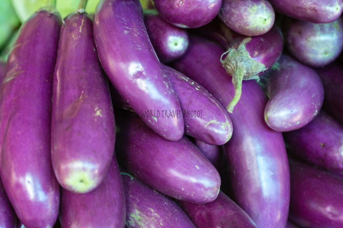 """Egglant at Vegetable Market"" stock image"