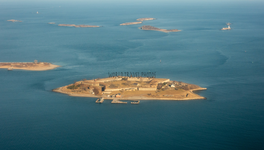 """""""Aerial View of Islands"""" stock image"""