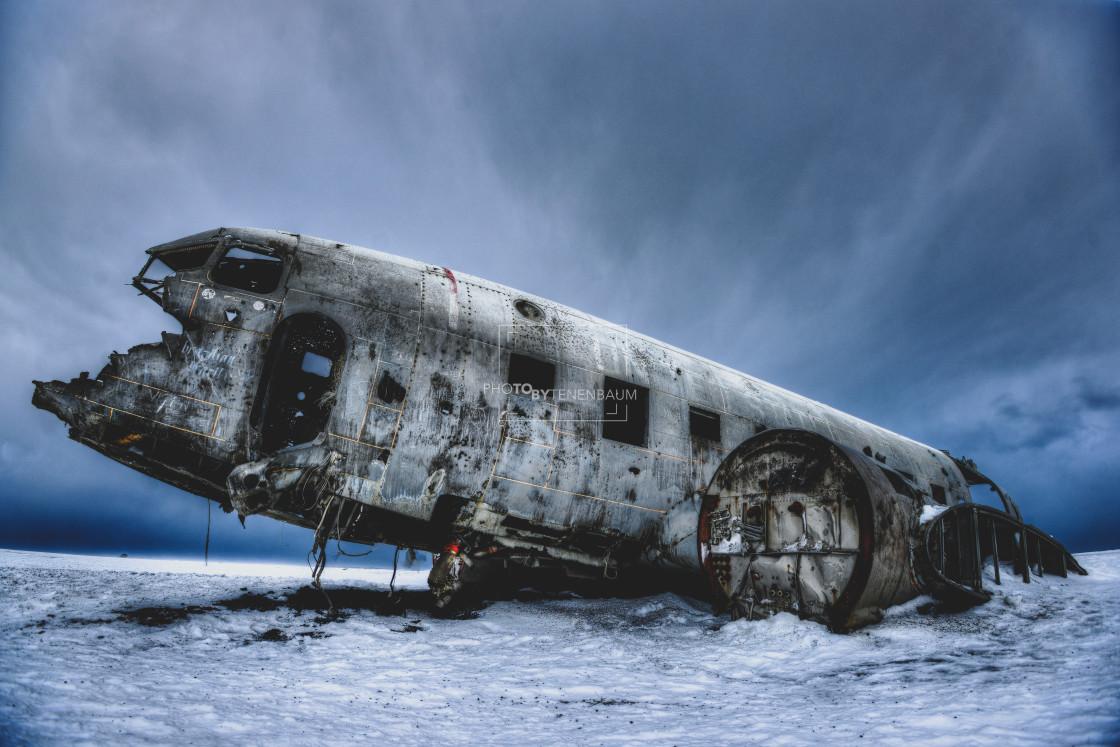 """Solheimassandur Plane Iceland"" stock image"