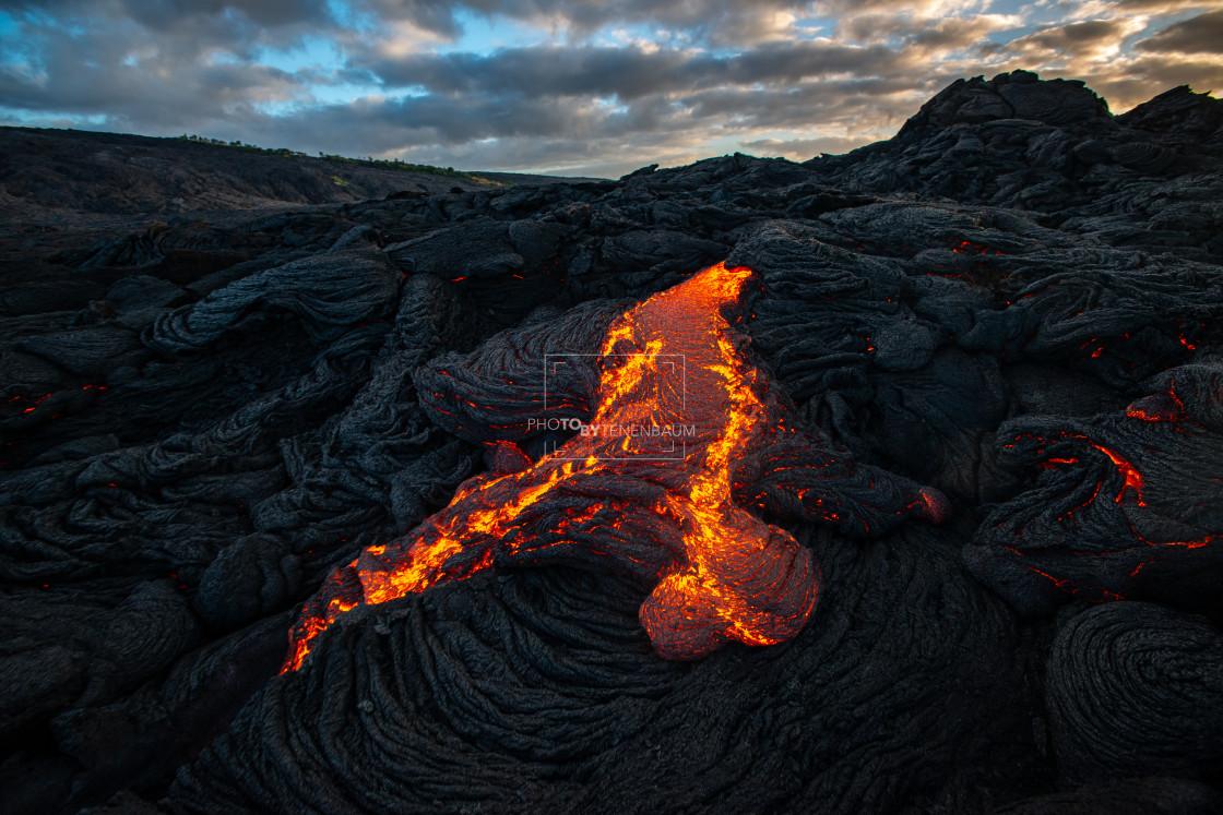 """Lava Fields At Sunrise"" stock image"