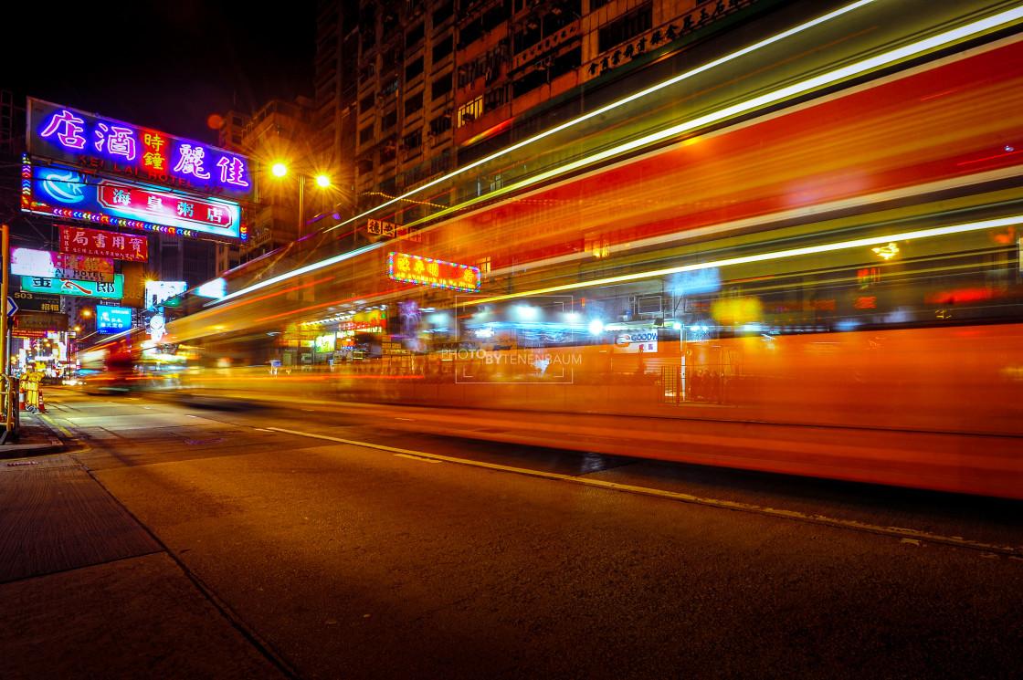 """Lights of Kowloon"" stock image"