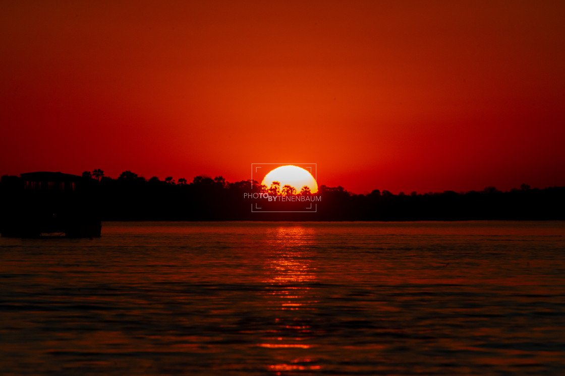 """""""African Sunset Part II"""" stock image"""
