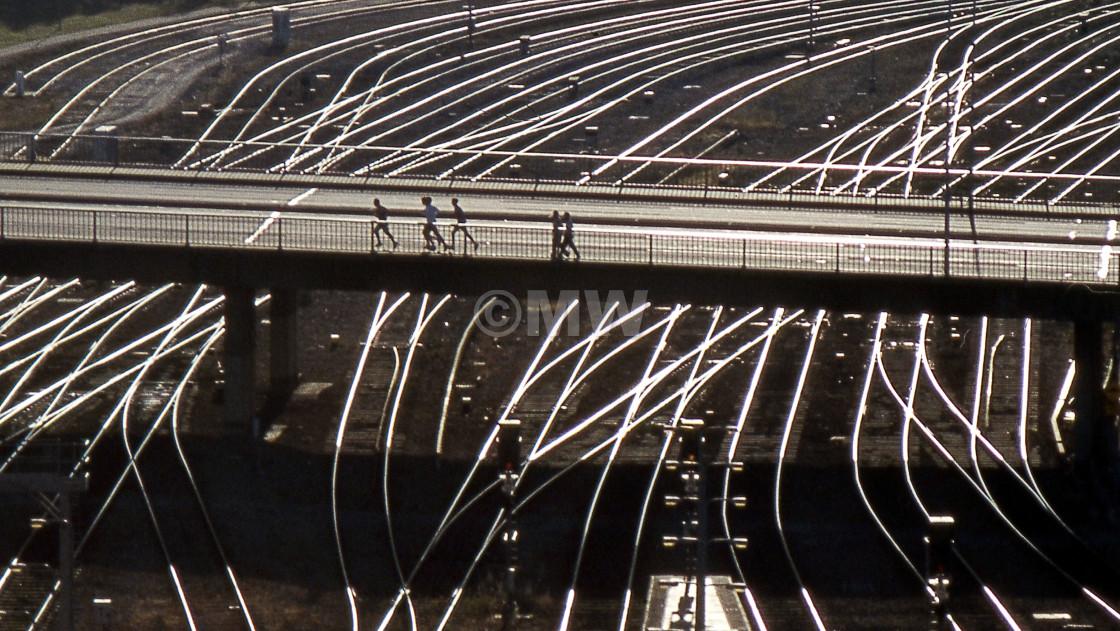 """Rails & Bridges"" stock image"