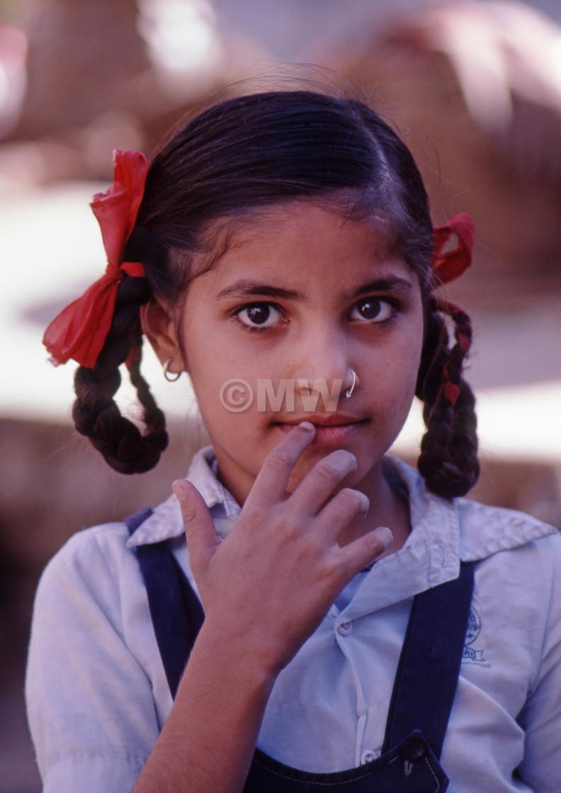 """Rajasthani girl"" stock image"