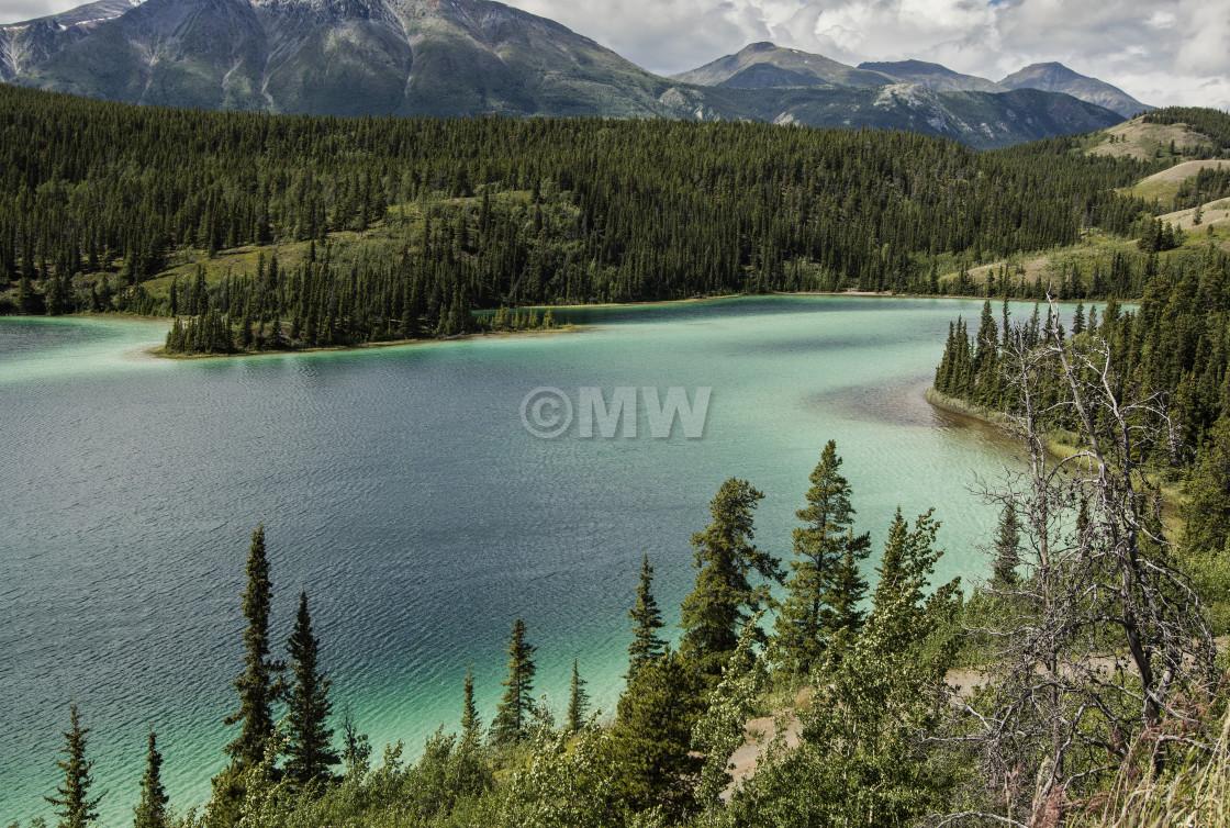 """Emerald Lake, Carcross"" stock image"