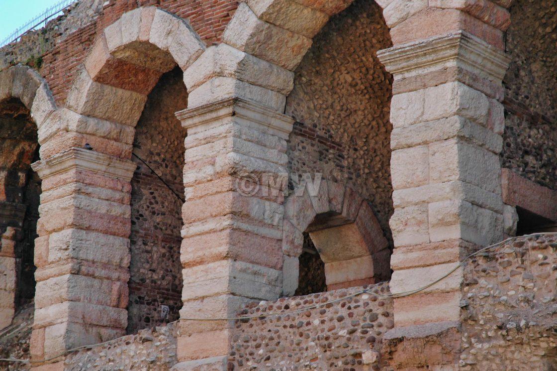 """Verona Roman arena arches"" stock image"