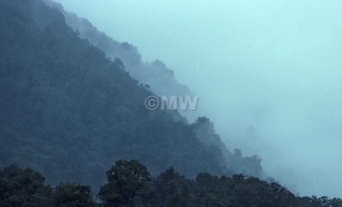 """Misty Hills"" stock image"
