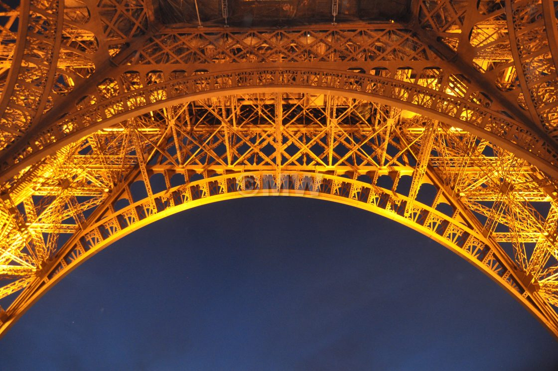 """""""Eiffel tower, detail"""" stock image"""