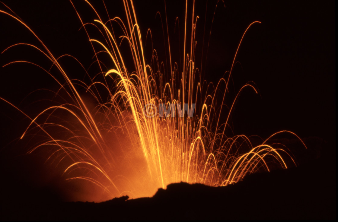 """Volcanic eruption, Yasur."" stock image"