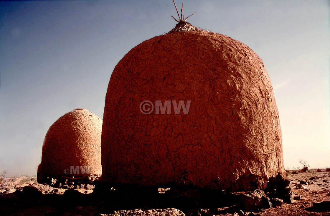 """Granaries near Tahoua, Niger"" stock image"