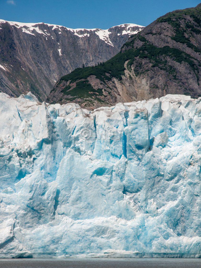 """North Sawyer Glacier face"" stock image"