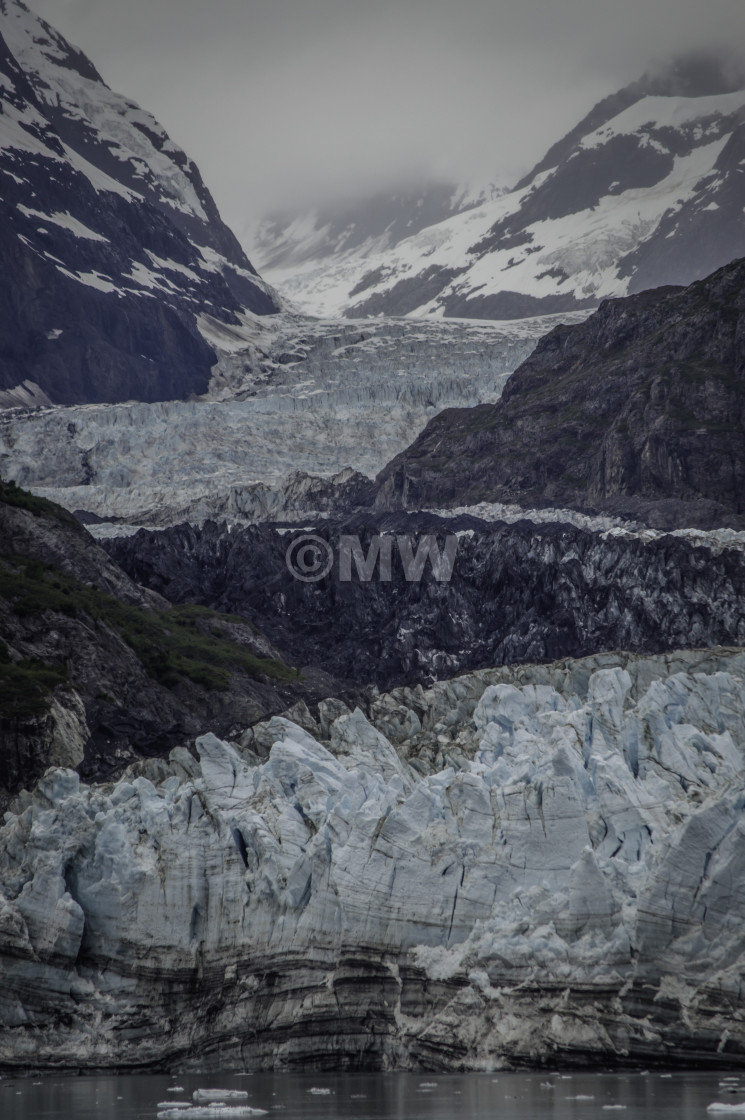 """Margerie Glacier, Glacier Bay, Alaska"" stock image"