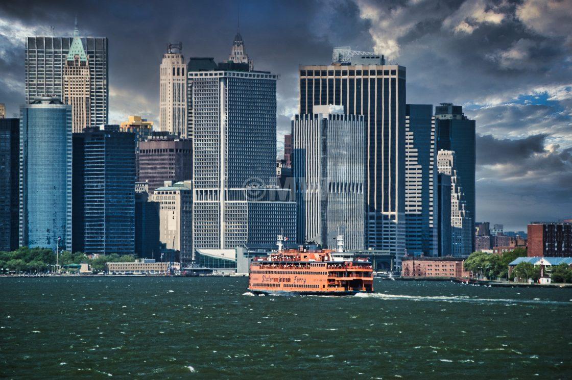 """Staten Island Ferry & Lower Manhattan"" stock image"