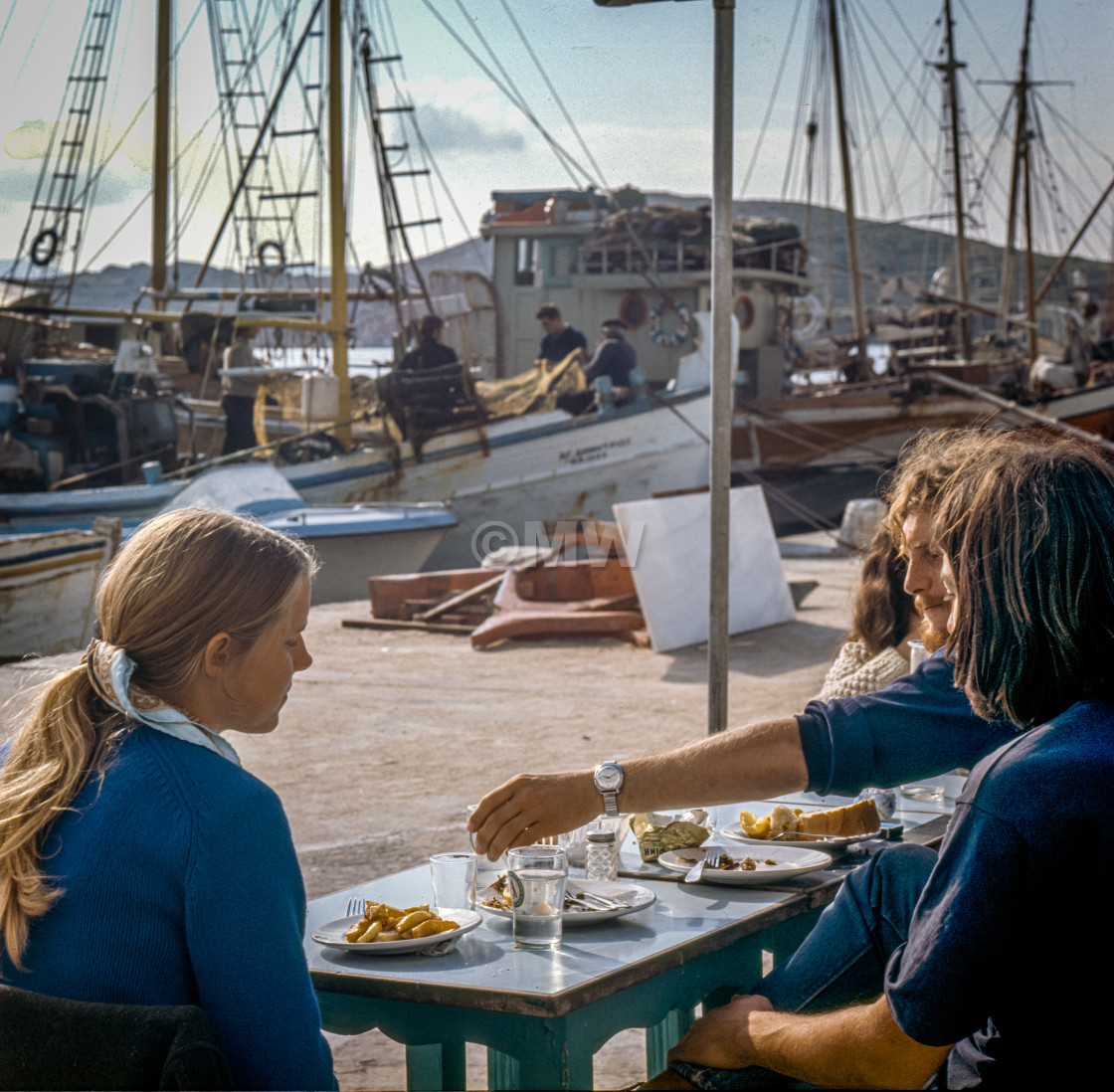 """""""Cafe, the port, Ios 1972"""" stock image"""