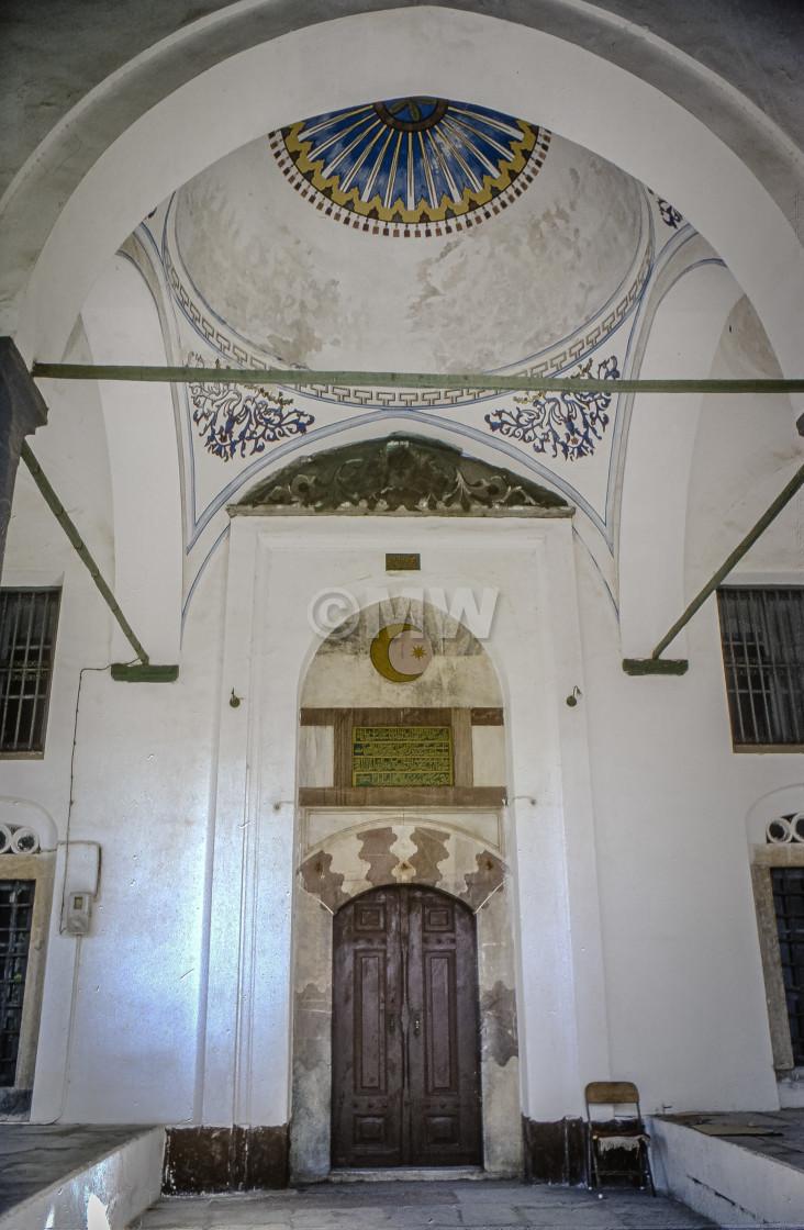 """uleyman Mosque Portico"" stock image"