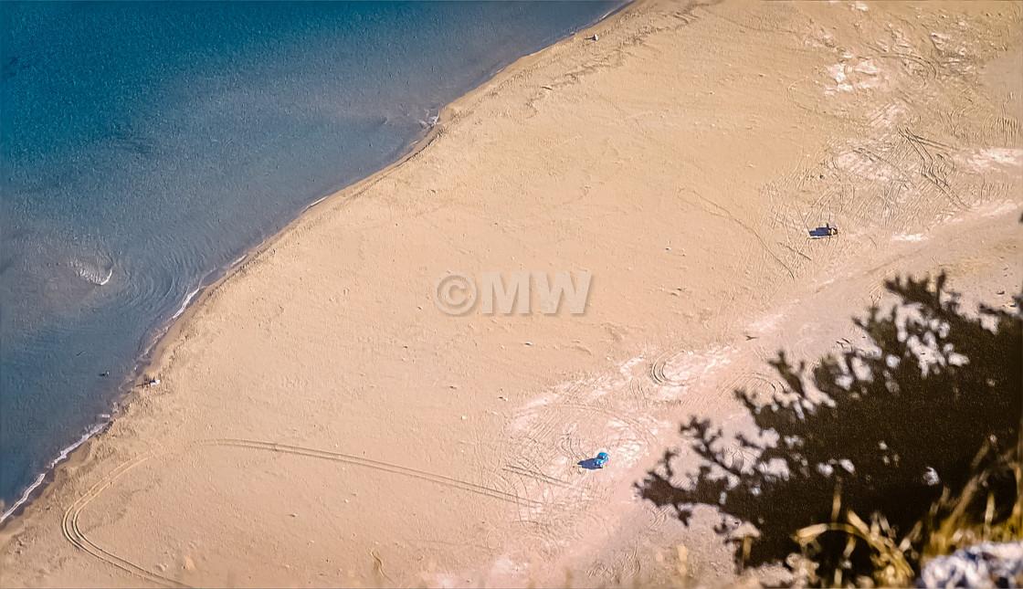"""""""Tsambikas beach from above"""" stock image"""