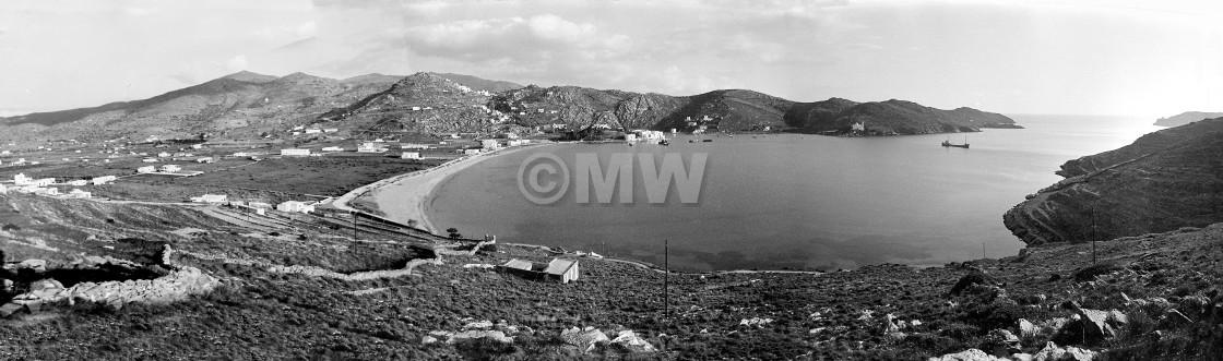 """""""Ios Harbor Panorama 1977"""" stock image"""