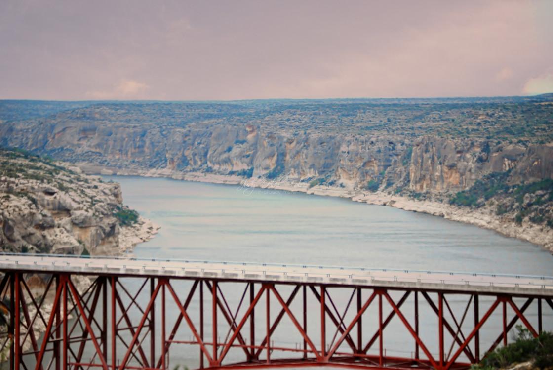"""""""View of the Rio Grande River"""" stock image"""