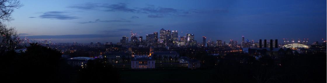 """London Twilight Skyline"" stock image"