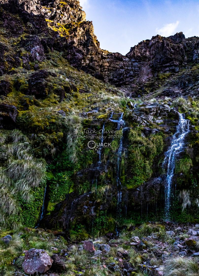 """Soda Springs Waterfall"" stock image"