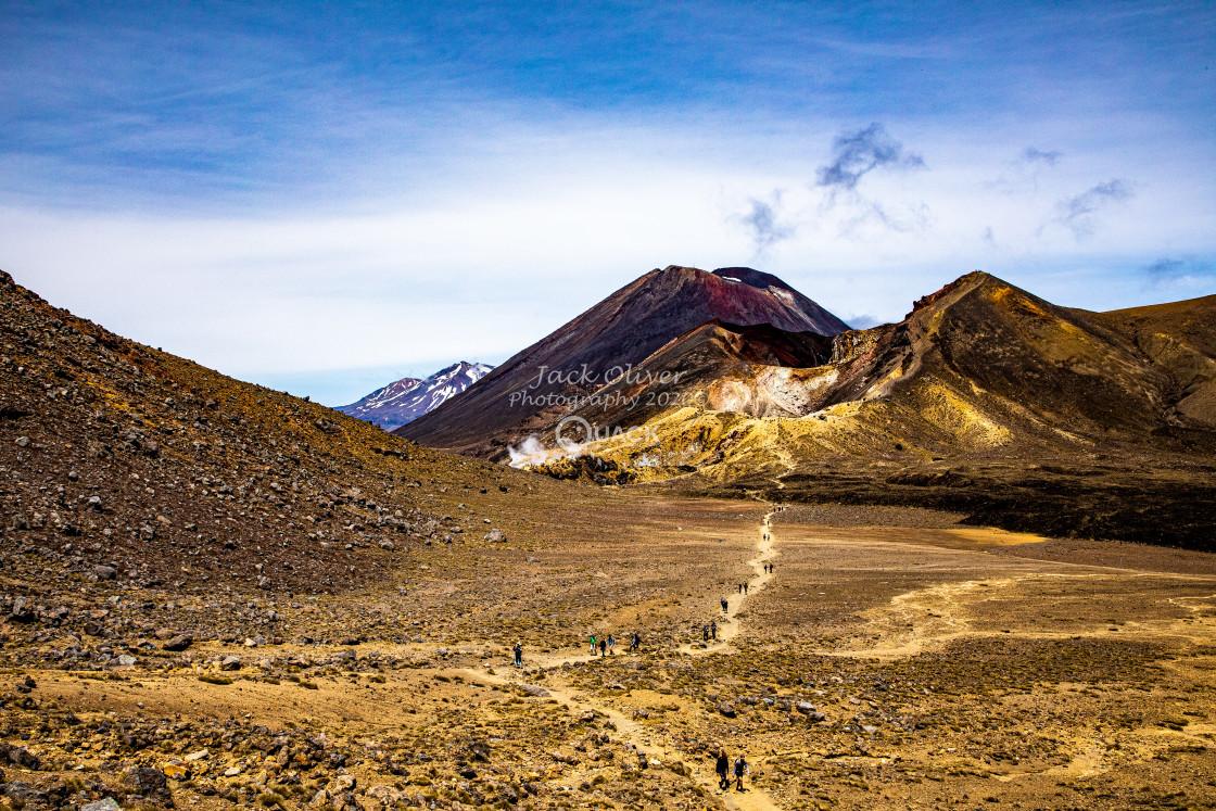 """""""MT Tongariro & MT Ngauruhoe"""" stock image"""