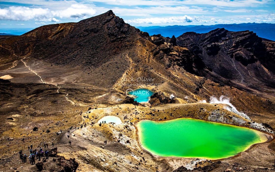 """Emerald Lakes"" stock image"
